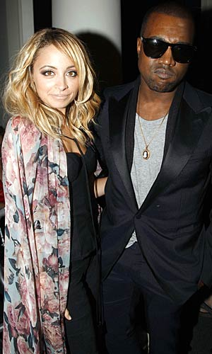 Nicole Richie and Kanye West at the Jean-Paul Gaultier show in Paris. - Eric Ryan/Getty Images
