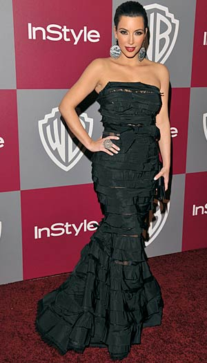 Kim Kardashian at InStyle and Warner Bros. Globes party in L.A., January 16, 2011. - Lester Cohen/WireImage.com