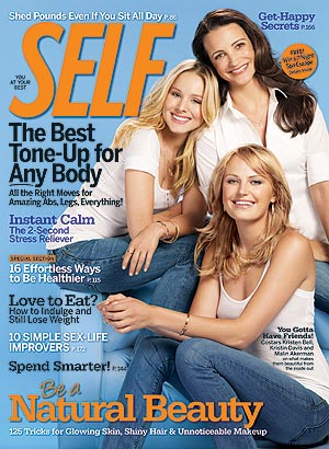 Kristen Bell, Kristin Davis, and Malin Akerman strike a pose on the cover of Self's October issue. - Stewart Shining /Self