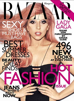 Lady Gaga graces the cover of Harper's Bazaar's May issue. - Harpers Bazaar