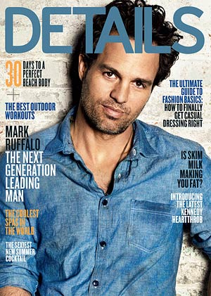 Mark Ruffalo heats up the May issue of Details. - Matthias Vriens-McGrath/Details