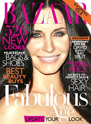 Courteney Cox graces the April cover of Harper's Bazaar. - Terry Richardson/Harper's Bazaar