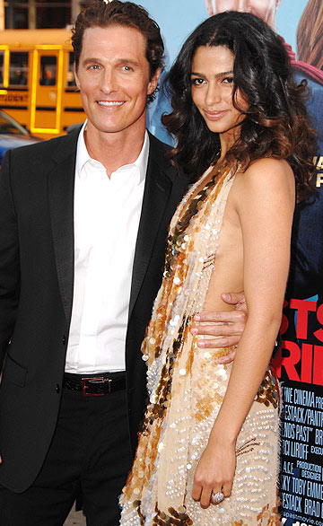 "Camila says her main squeeze Matthew McConaughey is a ""great dad."" - Steve Granitz/WireImage.com"