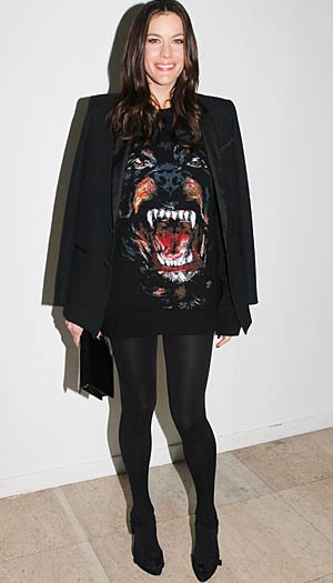 Liv Tyler at the Givenchy show in Paris, March 6, 2011. - Antonio de Moraes Barros Filho/WireImage.com
