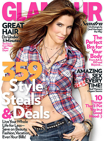 Sandra Bullock opens up about life and marriage in Glamour's July issue. - Peggy Sirota/Glamour