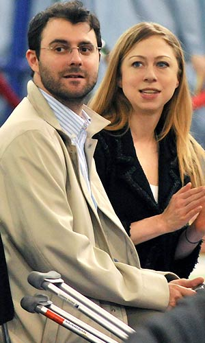 Chelsea met Marc in 1993, when they were both teenagers attending a Democratic political retreat in Hilton Head, South Carolina, with their parents. - J.B Nicholas/Splash News