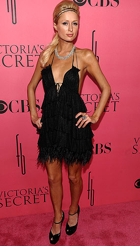 Paris Hilton at the Victoria's Secret Fashion Show in Miami. - Dimitrios Kambouris/WireImage.com