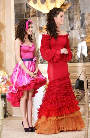 Rose and Sage won't get lost in the crowd wearing these bright, frilly frocks. - Adam Taylor/Warner Bros. Television