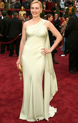 "Valentino called Kate Winslet's 2007 mint gown ""a good color for such a perfect British beauty."" We agree! - Jeff Vespa/WireImage.com"