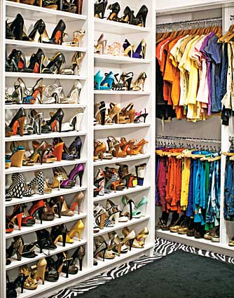 """My style is very eclectic,"" notes Fergie. ""High-tops, mary janes, ballet flats, gladiator sandals -- they're all me."" - Douglas Friedman/InStyle"