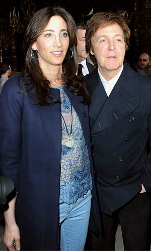 Paul McCartney and his girlfriend Nancy Shevell at the Stella McCartney show. - Pascal Le Segretain/Getty Images