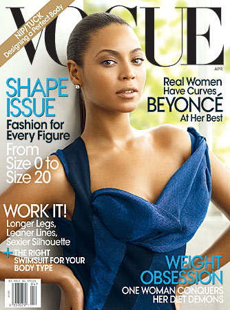 Beyonce Knowles graces the cover of Vogue. - Mario Testino/Vogue