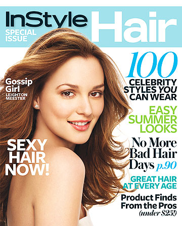 """Gossip Girl's"" Leighton Meester reveals some of her beauty secrets for In Style's special hair issue. - Stewart Shining/In Style"