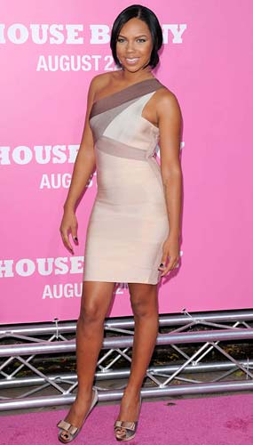 "Kiely Williams walks the pink carpet at the ""House Bunny"" premiere. - Devan/INFphoto.com"