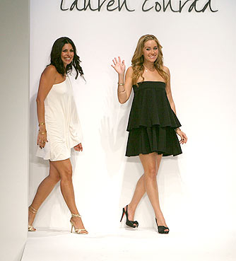 Lauren Conrad makes her catwalk debut at L.A. Fashion Week. - Frazer Harrison/GettyImages.com