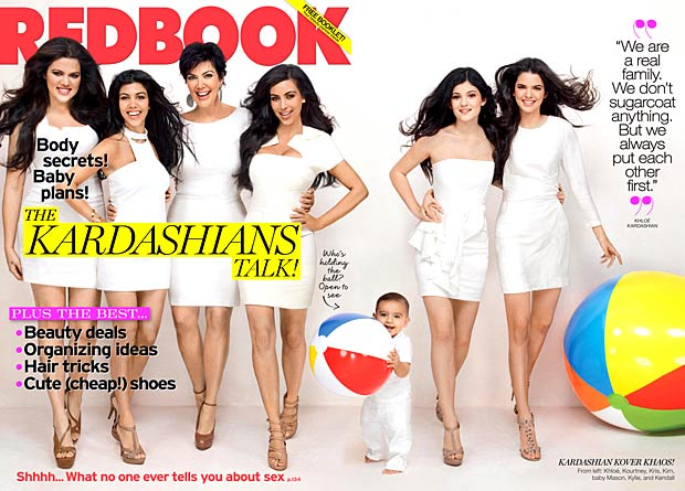 The Kardashian gals grace the cover of Redbook. - Ruben Afanador/Redbook