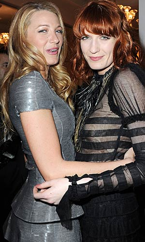 Blake Lively and Florence Welch at a Chanel dinner held in Lively's honor. - Pascal Le Segretain/Getty Images