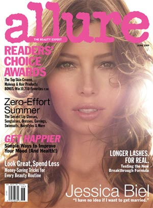 "In Allure's June issue, Jessica Biel reveals, ""I have no idea if I want to get married."" - Michael Thompson/Allure"