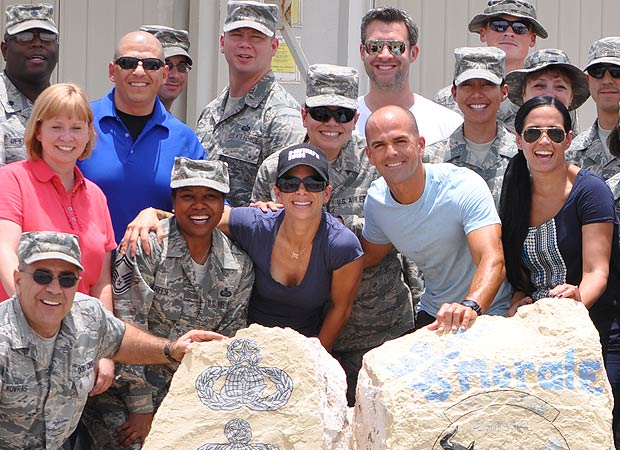 Jillian Michaels tells her emotional story of her visit to the troops overseas. - Mike Clifton/USO