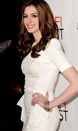 "Actress Anne Hathaway arrives at ""Love & Other Drugs"" Opening Night. - Frederick M. Brown/Getty Images"