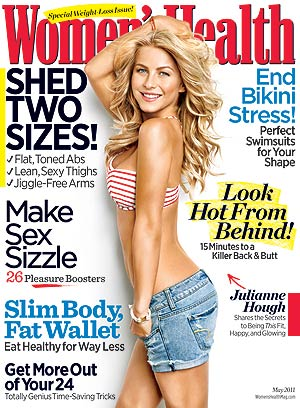 Julianne Hough flaunts her figure on the May issue of Women's Health .
