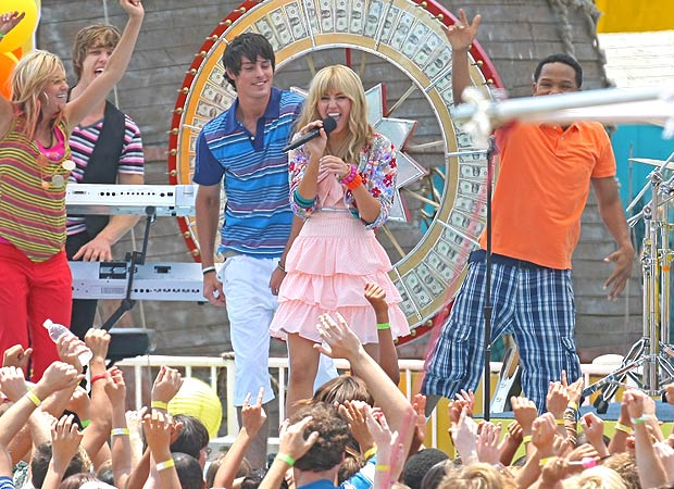"Miley returns for the final season of the Disney Channel's ""Hannah Montana."" - Darren Banks/Splash News"