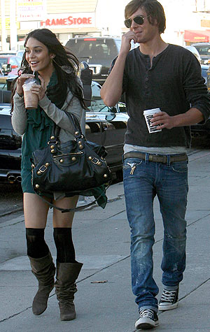 Lovebirds Vanessa Hudgens and Zac Efron hang in Los Angeles. - Star Pix/INFphoto.com