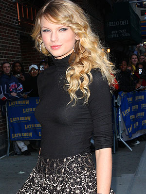 "Taylor arrives to promote her new album on ""Late Show With David Letterman."" - Richie Buxo/Splash News"