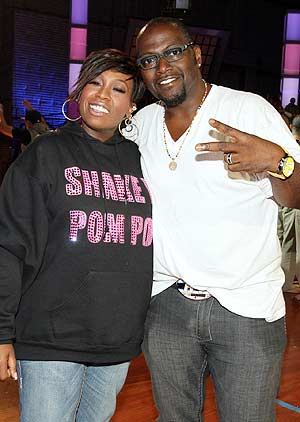 "Missy Elliott hangs backstage with Randy Jackson at a taping of ""America's Next Dance Crew."" - Chris Polk/FilmMagic.com"
