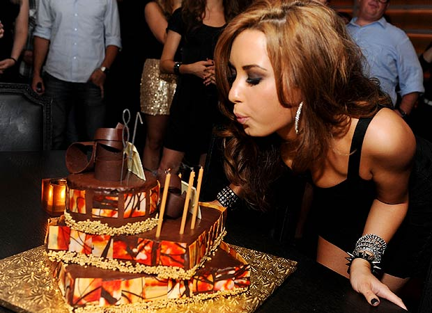 Demi Lovato makes a wish at her 18th birthday bash in NYC. - Dimitrios Kambouris/Getty Images