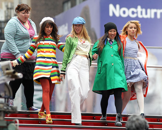 "The girls of ""Glee"" rock colorful clothes. - Lisa Mauceri/INFphoto.com"