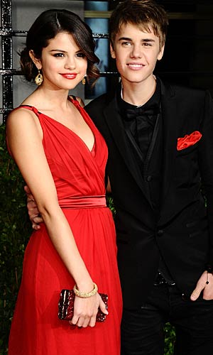 Selena Gomez and Justin Bieber at the Vanity Fair bash in Los Angeles. - Michael Buckner/WireImage.com