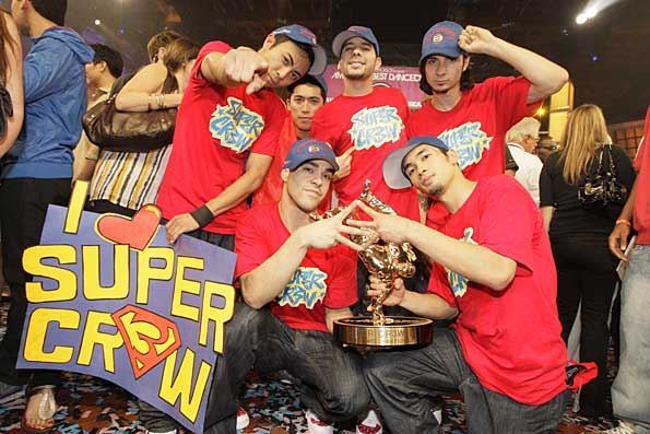 "Super Cr3w celebrates after being crowned ""America's Best Dance Crew."" - Chris Polk/FilmMagic.com"