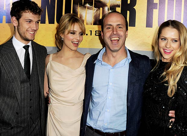 Alex and Dianna with director D.J. Caruso and Teresa Palmer at the film's L.A. premiere. - Kevin Winter/Getty Images