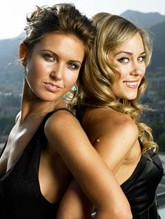 "Audrina Patridge and Lauren Conrad from ""The Hills."" - Jeff Lipsky/©MTV"