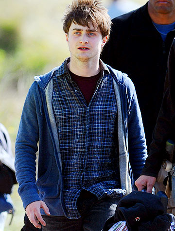 "Daniel Radcliffe shoots scenes for ""Harry Potter and the Deathly Hollows"" in Wales. - Wales News Service/Splash News"