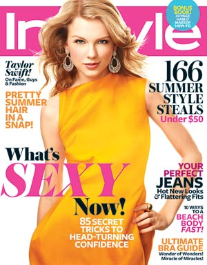 Taylor Swift rocks a Victoria Beckham dress on InStyle 's June cover. - Regan Cameron/InStyle