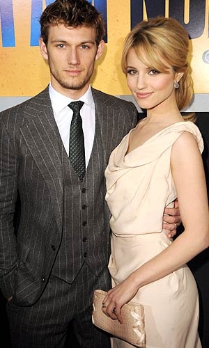 "Alex Pettyfer and Dianna Agron at the L.A. premiere of ""I Am Number Four."" - Jeff Kravitz/FilmMagic.com"