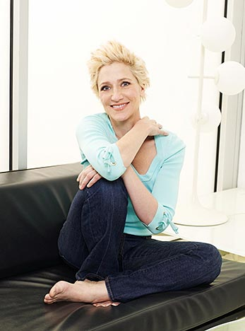 """Sopranos"" star Edie Falco is singing a new tune: motherhood. - Perry Hagopian/Parade Magazine"