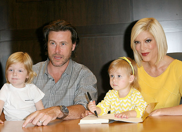 Tori Spelling's bunch makes her Monday night book signing in LA a family affair. - Valerie Macon/Getty Images North America