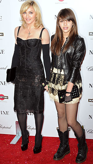 "Madonna and Lourdes Leon light up the ""Nine"" premiere in Dolce & Gabbana. - Asadorian-Mejia/Splash News"