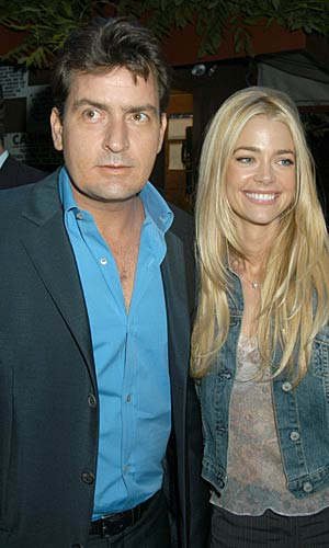 "Denise Richards says she and her ex-hubby, Charlie Sheen, are not ""in the best place right now."" - Carmen Valdes/Ron Galella/WireImage.com"