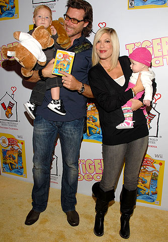Dean and Tori have their hands full with little Liam and Stella. - Mark Sullivan/WireImage.com