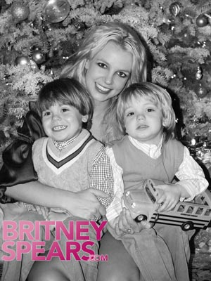 Britney Spears poses with her two sons, Sean Preston (3) and Jayden James (2). - BritneySpears.com