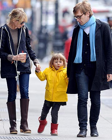 Matilda walks hand in hand with her mom and a friend. - Winslow/Brown/Splash News