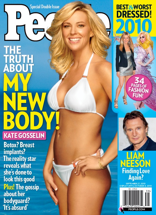 Gosselin on the cover of People .