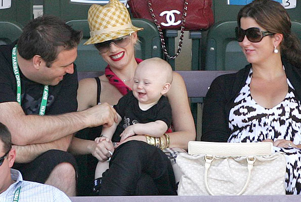 Gwen's brother Todd cracks little Zuma up! - Juan Soliz/PacificCoastNews.com