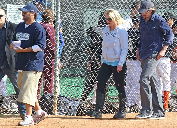 Britney Spears takes her beau Jason Trawick out to her son's ballgame -- coached by ex hubby Kevin Federline. - Miguel Aguilar/Sam Sharma/PacificCoastNews.com