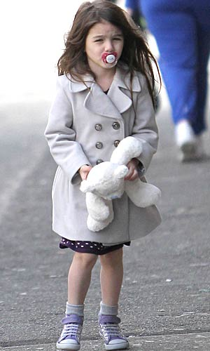 Suri Cruise is spotted sporting a childish accessory -- a pacifier -- in Vancouver, Canada. - PacificCoastNews.com
