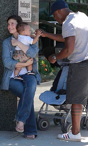 Taye and Idina dote on their sweet baby boy. - CelebrityJuicer/Splash News